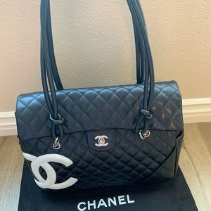 CHANEL Calfskin Quilted Large Cambon Flap